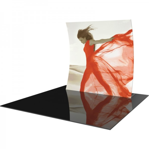 8FT Vertically Curved Fabric Trade Show Display
