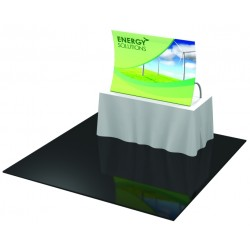 Table Top Fabric Trade Show Display with Rear Leg