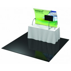 Table Top Fabric Trade Show Display with Front Leg & Monitor Kit