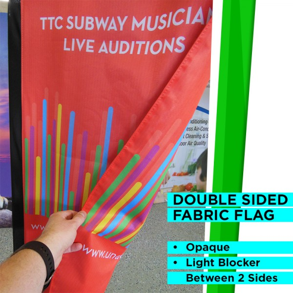 Large Outdoor Teardrop Flag with Ground Stake