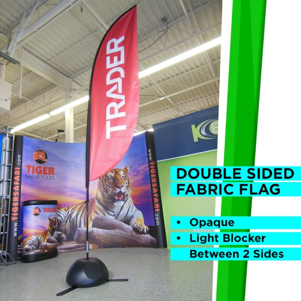 11ft High Outdoor Straight Flag with Ground Stake