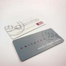"""1.5"""" x 3.5"""" Matte Round Corner Business Cards"""