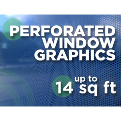 See Through Window Graphics - up to 14 square feet