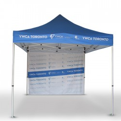 10 x 10 Custom Pop Up Event Tent with backwall