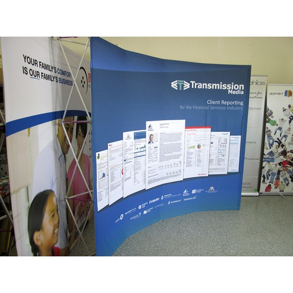 Hopup 10FT Wide Curved Fabric Trade Show Display