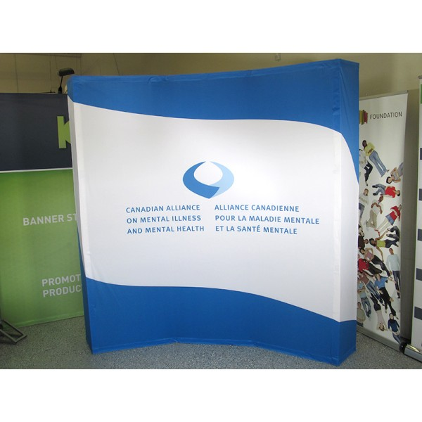 Hopup 8 FT Wide Curved Trade Show Display
