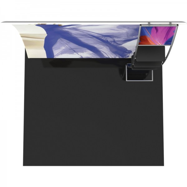 10FT Vertically Curved Fabric Trade Show Display with Monitor Mount