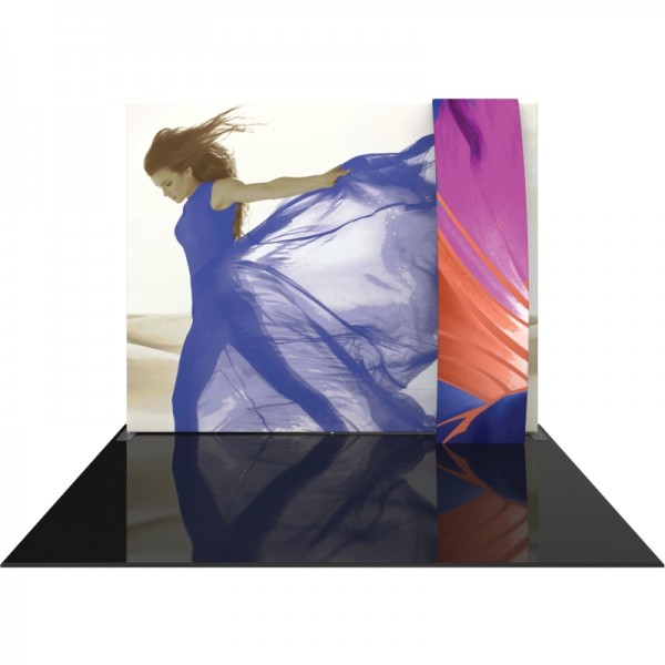 10FT Straight Fabric Trade Show Display with Stand-off Pillowcase Graphic