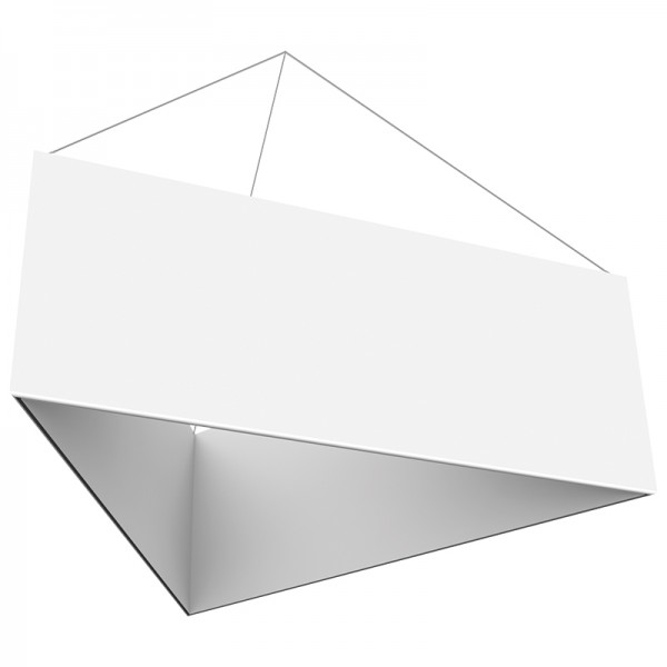 8' Triangle x 3'h Hanging Ceiling Banner