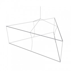 8' Triangle x 4'h Hanging Ceiling Banner