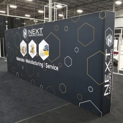 20' wide Stackable Fabric Display