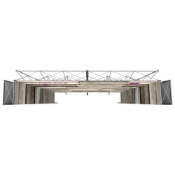 17' w x 14.8' h U-Shaped Stackable Fabric Display