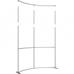 Extra Tall 8 FT Wide Curved Fabric Display