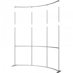 Extra Tall 10 FT Wide Curved Fabric Display