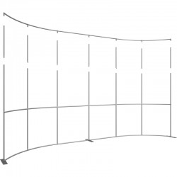 Extra Tall 20 FT Wide Curved Fabric Display