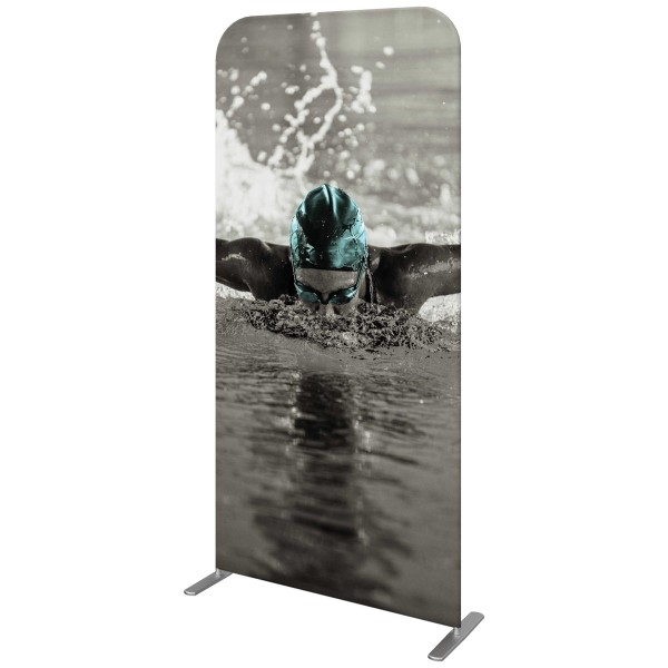 39.5 Inch Wide Straight Fabric Banner Stand