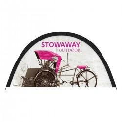55w x 28h Stowaway Outdoor Fabric Pop up Sign