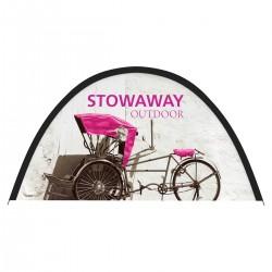 79w x 40h Stowaway Outdoor Fabric Pop up Sign