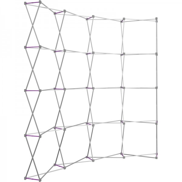Extra Tall 10ft Wide x 10ft High Curved Tension Fabric Display