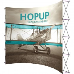 Extra Tall 12ft Wide x 10ft High Curved Tension Fabric Display