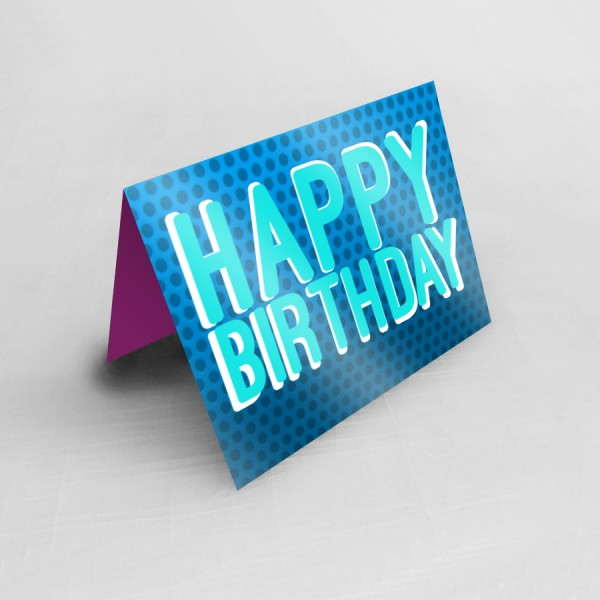 "4.25"" x 5.5"" Custom Printed Greeting Cards  (Gloss Finish)"