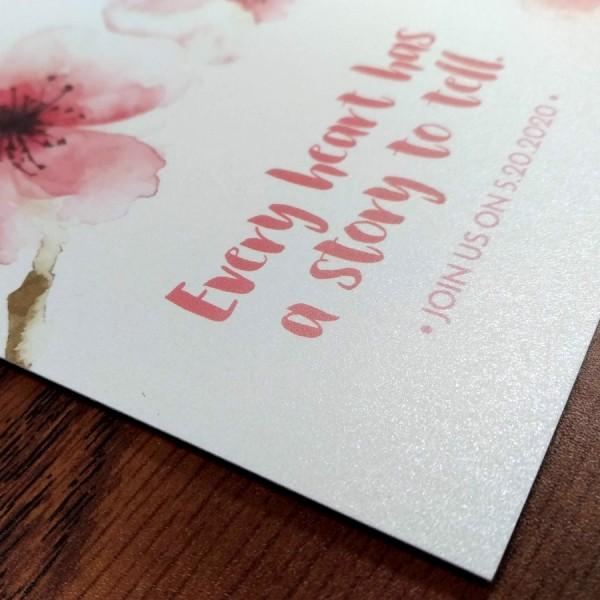 "4.25"" x 5.5"" Custom Printed Greeting Cards (Pearl Finish)"