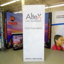 """Banner Bug Retractable Banner Stand - 33""""W x 86""""H"""