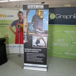 "Excalibur Double Sided Retractable Banner Stand - 31.5W x 84""H"