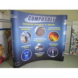 8'W x 8'H Curved Pop Up Trade Show Display