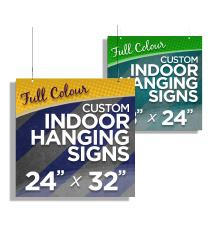 Custom Indoor Hanging Signs