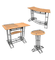 Truss Trade Show Podium Counters