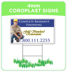 4mm Coroplast Lawn Signs