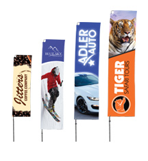 Straight Advertising Flags
