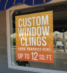 Custom Window Clings