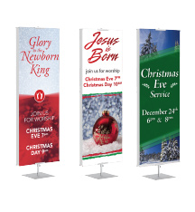 Christmas Banner Stands