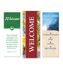 Indoor Church Welcome Banners