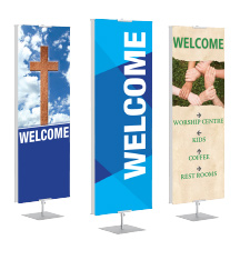 Church Welcome Banner Stands