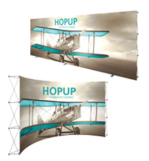 Extra Wide Tension Fabric Displays