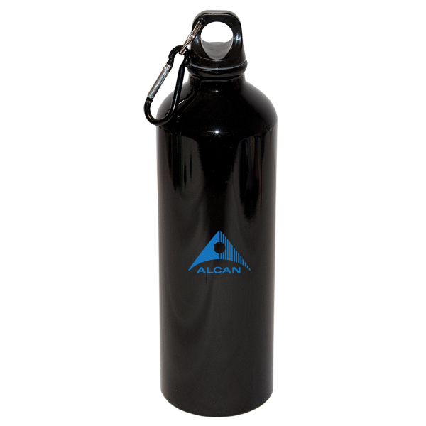 750 Ml (25 fl oz) Aluminum Water Bottle with Carabiner, D1-WB8007
