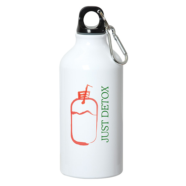 500 Ml (17 fl oz) Aluminum Water Bottle with Carabiner, D1-WB7107